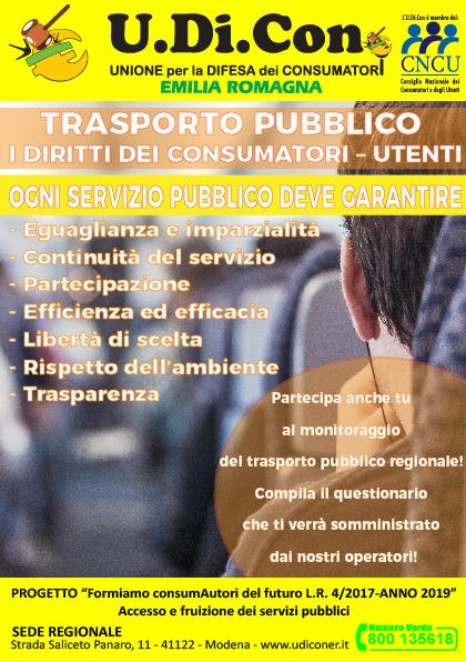 Volantino-Trasporto pubblico. I diritti dei consumatori-utenti