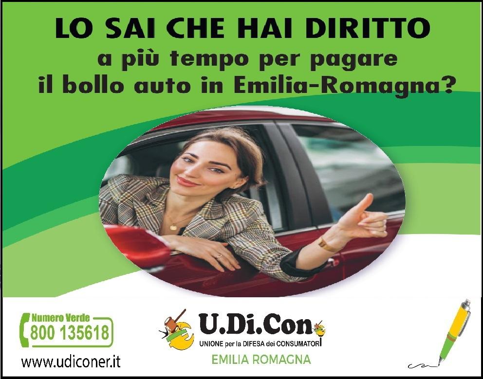LO SAI CHE HAI DIRITTO....a più tempo per pagare il bollo auto in Emilia-Romagna?