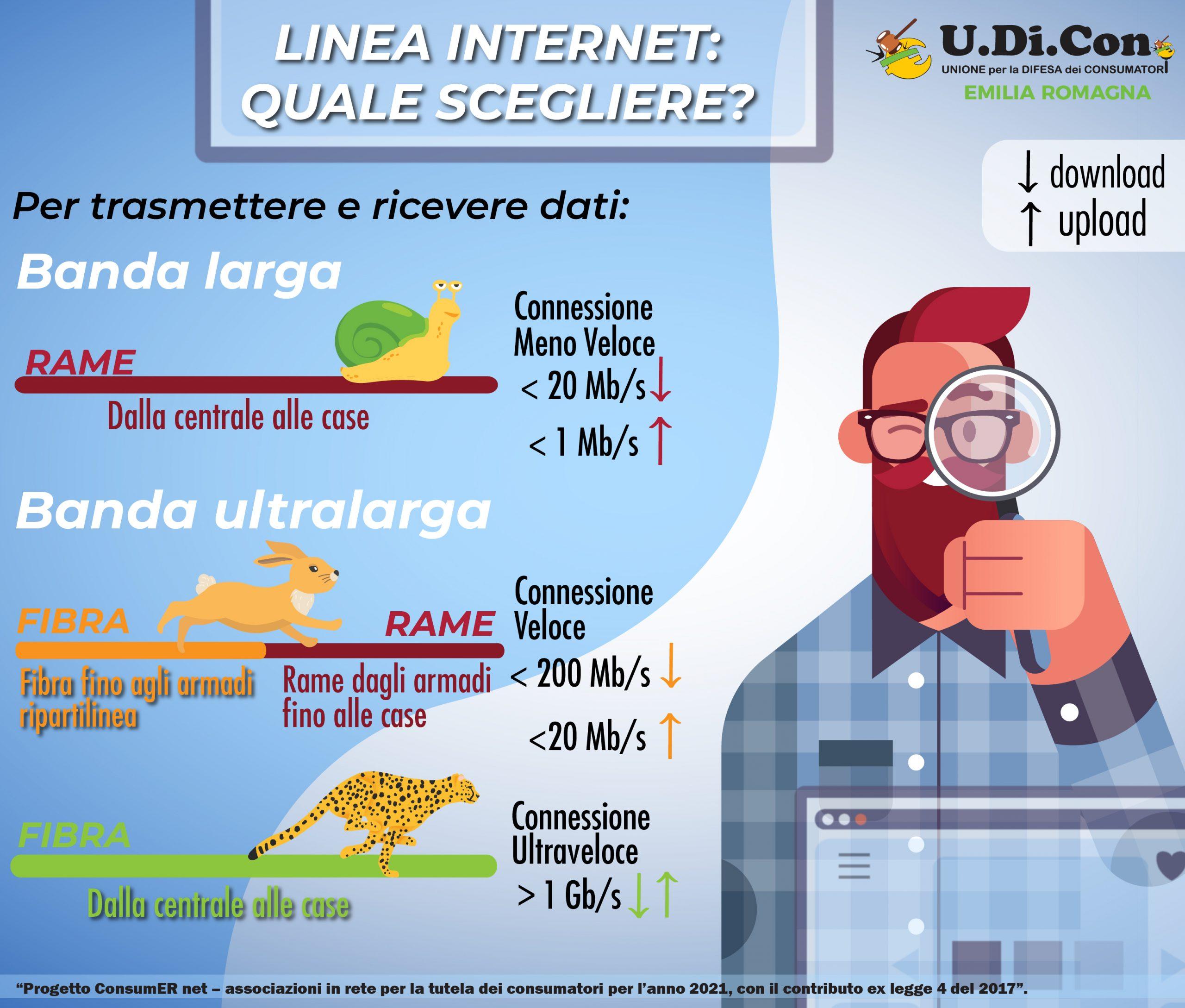 Infografica - Linea internet: quale scegliere?